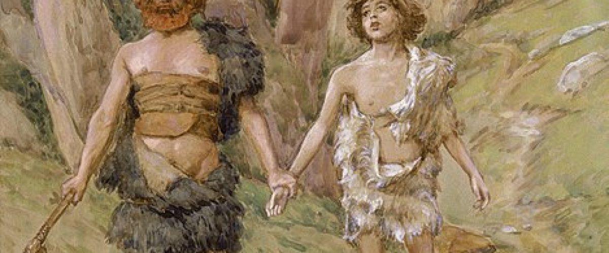 את מה שקרה ביניהם, יעקב צריך לתקן. קין והבל (ציור מאת ג'יימס טיסו, המאה ה-19)