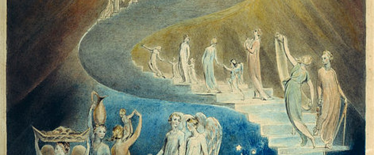 הציור 'סולם יעקב' מאת ויליאם בלייק, מוצג ב'מוזיאון הבריטי' בלונדון