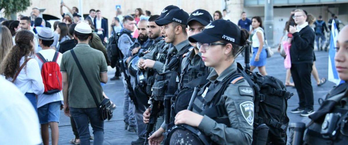 האם יש שינוי במגמה? שוטרים השבוע בירושלים (צילום: דוברות המשטרה)