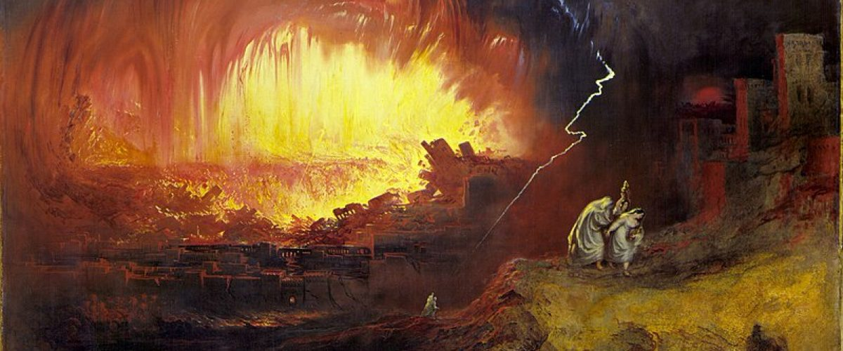 מהפכת סדום ועמורה על פי ציורו של ג'ון מרטין (המאה ה-19) מתוך 'ויקיפדיה'